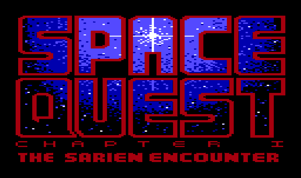 Title screen from the game Space Quest I